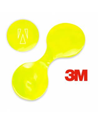Reflective magnetic clip made of 3M foil - yellow 024